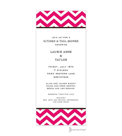 Chevron Hot Pink Invitation