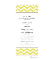 Chevron Limeade Invitation