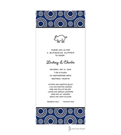 Dotted Circles Navy & Black Invitation