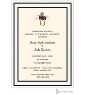 Double Borders Navy & Black Invitation