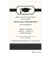 Bookplate Grad Invitation