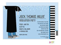 Boy I Am Grad! Graduation Party Invitation