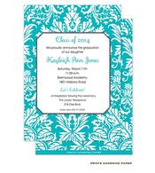 Turquoise Damask Invitation