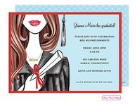 Glamorous Grad (Brunette) Invitation