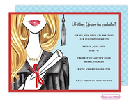 Glamorous Grad (Blonde) Invitation