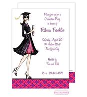Gorgeous Grad (Brunette) Invitation
