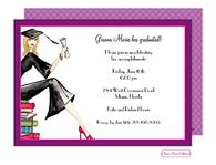 Grad On Books (Blonde) Invitation