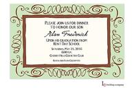 Mint & Brown Swirl Invitation