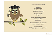 Owl Graduation Invitation