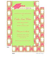 Pink Hourglass Graduation Hat Graduation Announcement