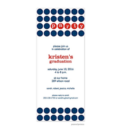 Party Dots - Navy & Red Invitation