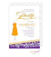 Yellow and Purple Collegiate Invitation