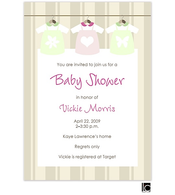 Clothes line baby shower invitation