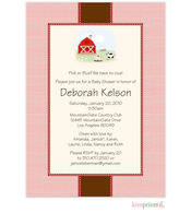 Funny Farm Baby Shower Flat Cards Invitation