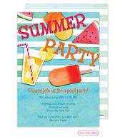 Summer Essentials Blue Invitation