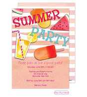 Summer Essentials Orange Invitation