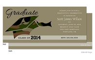 Tan Camo Graduation Hat Graduation Announcement