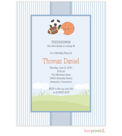 All Star Baby Shower Flat Cards Invitation