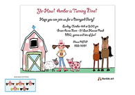 Barnyard Girl Invitation