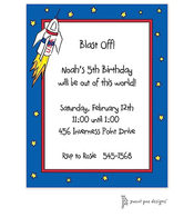 Blast Off! Invitation