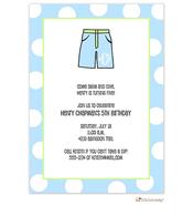 Boys bathing suit invitation