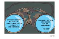 Camo Binoculars Invitation