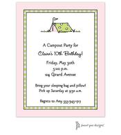 Camping Pink Invitation