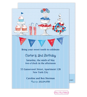 Candy Buffet (Blue) Invitation