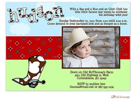 Cowboy Party Digital Photo Invitation