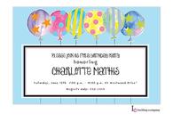 Crazy Balloons Invitation