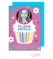 Cupcake Party Digital Photo Invitation