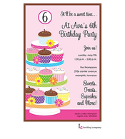 Cupcake Tower Invitation