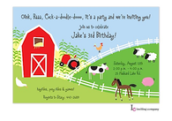 Farm Scene Invitation
