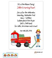 Fire Fighter Invitation
