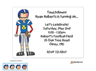 Football Boy Invitation