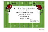 Football Field Invitation