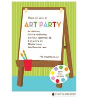 For Art's Sake Party Invitation
