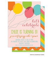 Fun Balloons Birthday Party Invitation
