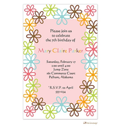 Fun flowers invitation