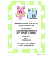 Girl and Boy Bathing Suit Invitation