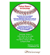 Green Baseball Invitation