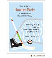 Hockey Star Party Invitation