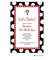 Jumbo Party Dots - Black Invitation