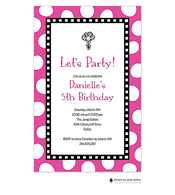 Jumbo Party Dots - Fuschia Invitation