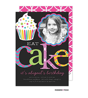 Let's Eat Cake Digital Photo Invitation