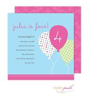 Party Balloons Invitation