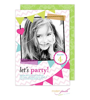 Party Banners Digital Photo Invitation