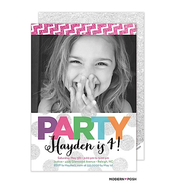 Party In Color Digital Photo Invitation