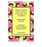 Pink Monkey Invitation