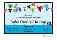 Pirate Banner Invitation